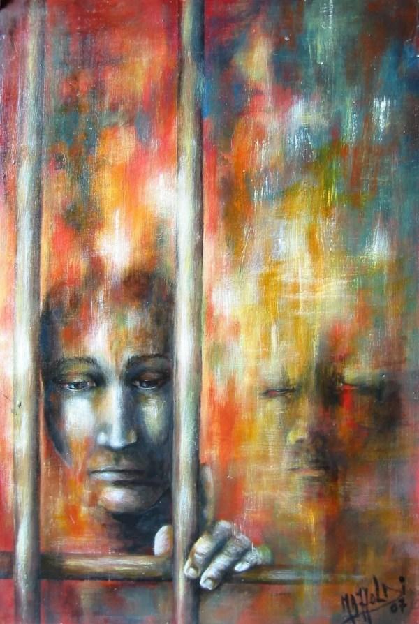 Aurora Mazzoldi Artwork Depression Original Painting Acrylic Archetypal Art
