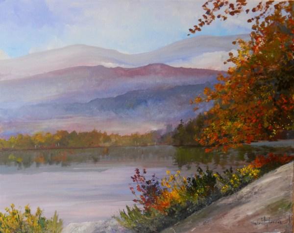 Adirondack Lake Painting