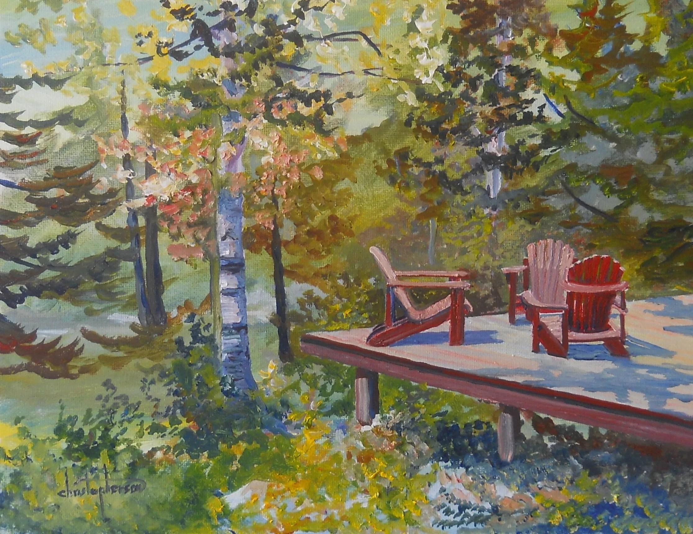 William Christopherson Artwork Adirondack Mountains Camp