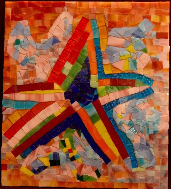 Goksen Parlatan Artwork Starry Original Mosaic Abstract Landscape Art
