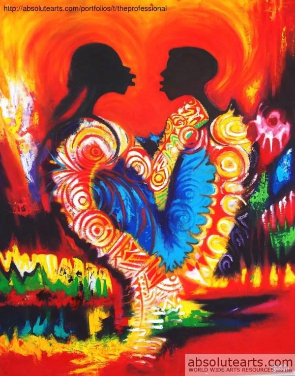 Egunlae Olumide Artwork Love Original Painting Oil Abstract Art