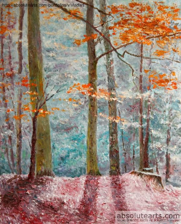 Vladimir Volosov 'amazing Landscape' Painting Oil