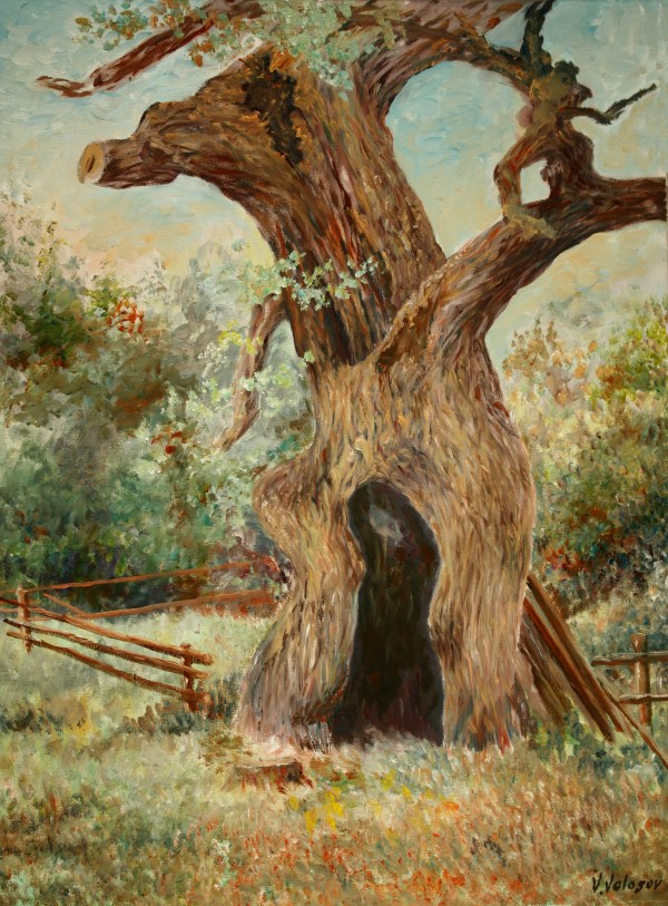 Painting Old Oak Tree