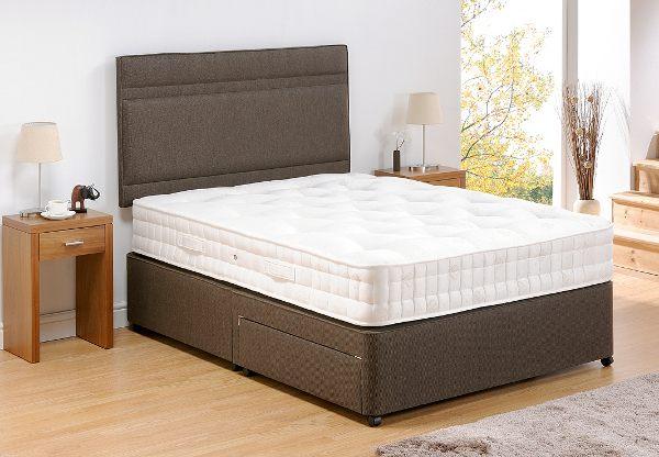Old English Wool Luxury 1400 Pocket Sprung Divan Bed Set