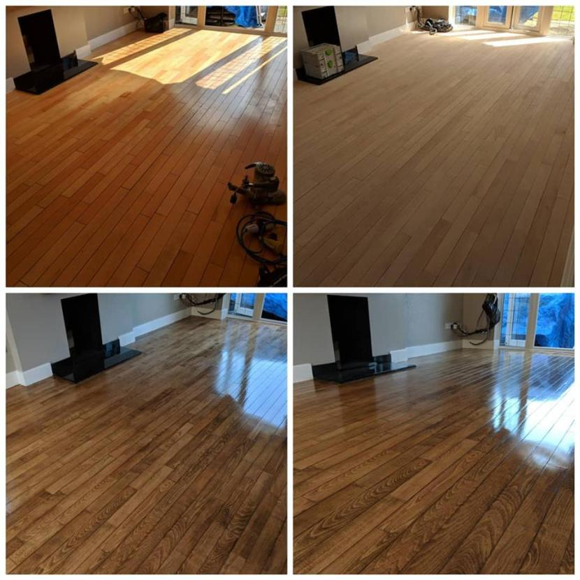 Maple wood floor sanding services in Essex