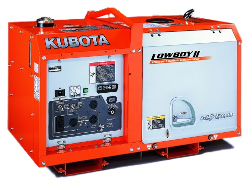 small resolution of kubota lowboy ii compact quiet diesel generator gl7000 7 kw standby 6 5 kw prime single phase 120 240 volt liquid cooled
