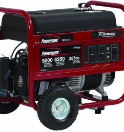 powermate portable 6250 watt gasoline generator with manual start pm0435005 powermate portable generator pm0435005 6250 watt subaru at cita asia [ 1200 x 1006 Pixel ]