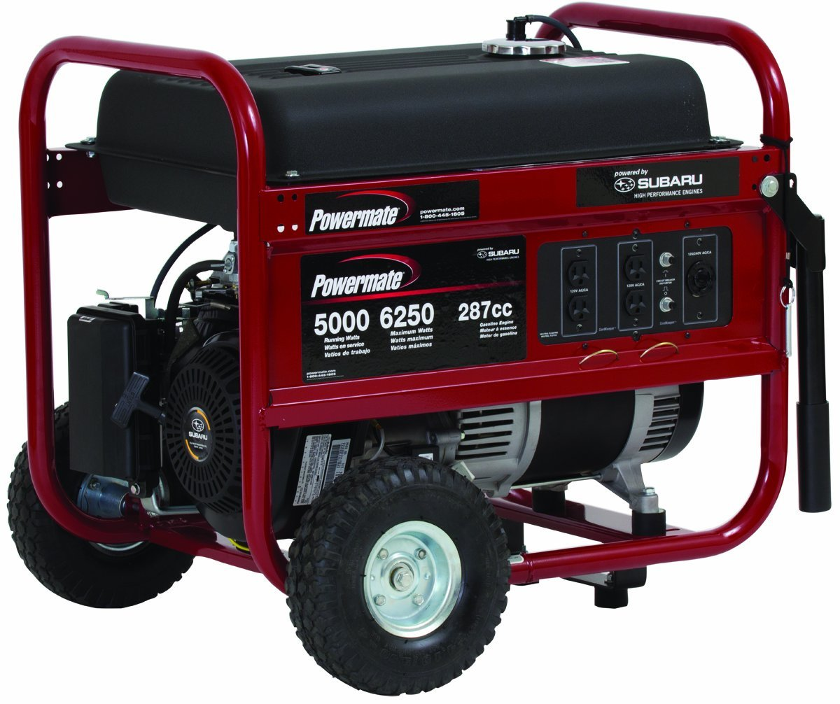 hight resolution of powermate portable 6250 watt gasoline generator with manual start pm0435005 powermate portable generator pm0435005 6250 watt subaru at cita asia