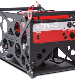 voltmaster portable 3 phase generator xtp120eh240 11 5 kw 139 240 volt honda powered [ 1018 x 799 Pixel ]