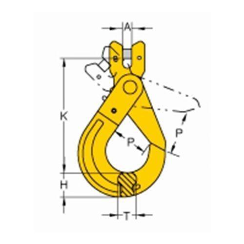 Grade 80 Pinlok Latchlok Hook_drawing