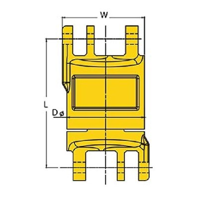 Grade 80 Chain Fittings Insulated-Blank-Swivels-drawing