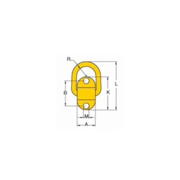 Grade 100 Bolt on tie down point drawing