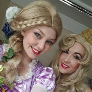 Rapunzel and Aurora Joint Party