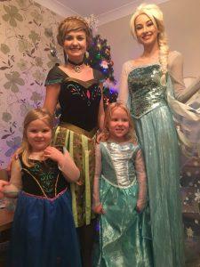 Elsa & Anna Christmas Froze Visits Nottingham