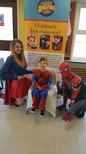 Super Girl and Spider Man , Melbourne