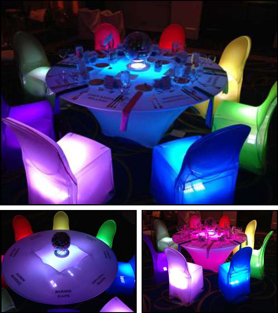 led table and chairs adirondack rochester ny acrylic products for absolutely fabulous events productions l e d tables personalized
