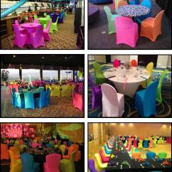Hot Pink Spandex Chair Covers Reject Shop Products For Absolutely Fabulous Events And Productions Neon
