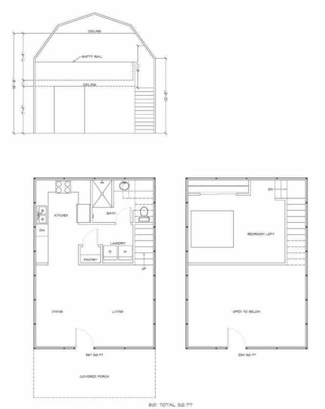 Dan Pi Lofted Barn Cabin Floor Plans