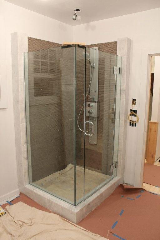 Corner Glass Shower Door - Absolute Shower Doors