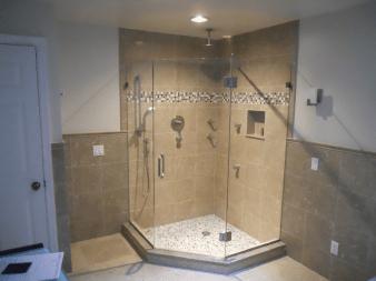 Corner Design Custom Glass Shower Doors