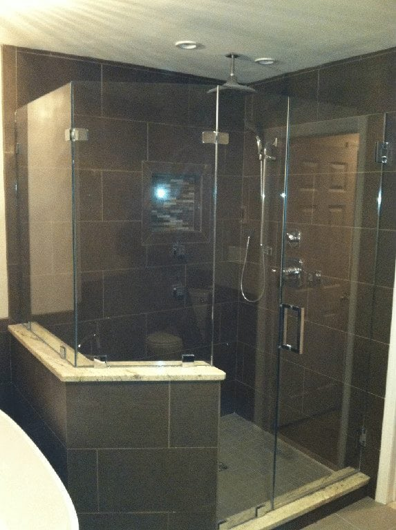 Frameless Neo Angle Shower Enclosure With Side Panel And