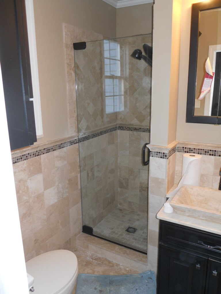 Frameless Shower Door With Wall Mount Pivot Hinge By Absolute Shower