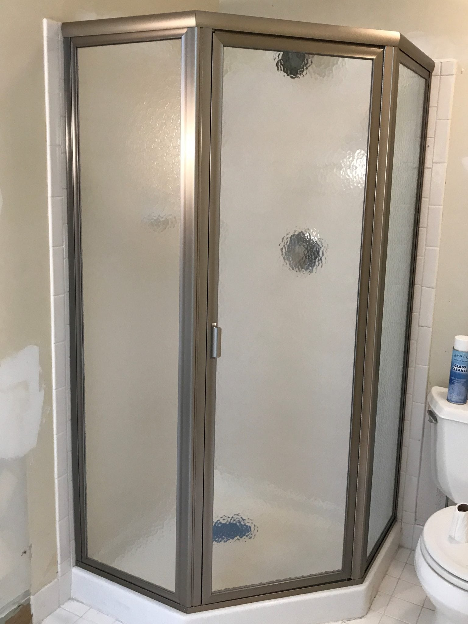 Framed Neo Angle Shower Door by Absolute Shower Doors