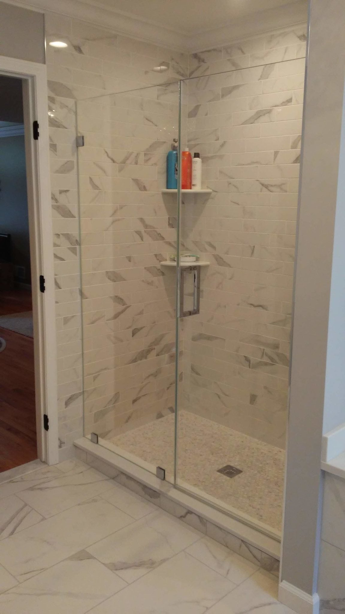 Frameless Door and Panel with Clips