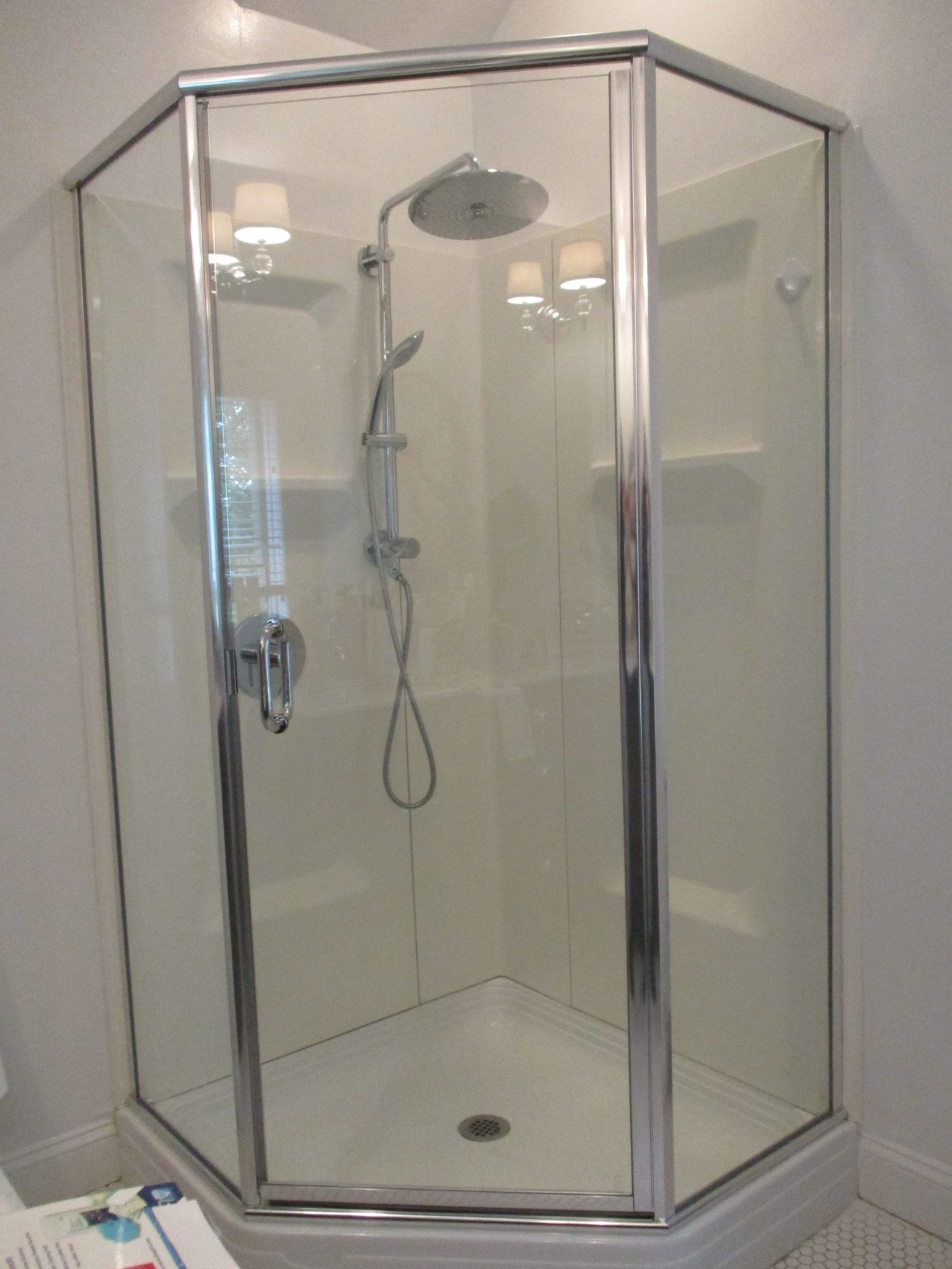 Semi Frameless Neo Angle Shower Enclosure By Absolute Shower Doors