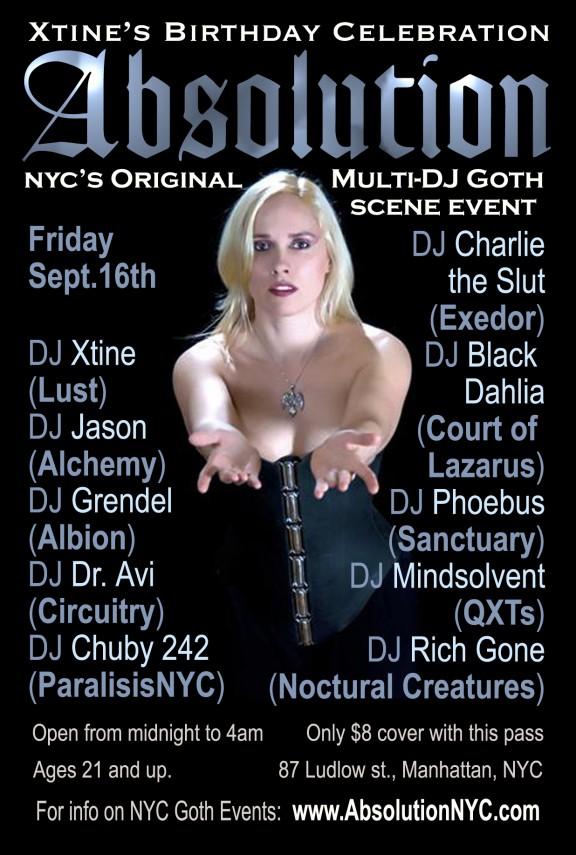 Absolution-NYC-Goth-Club-Flyer-Xtine's Birthday