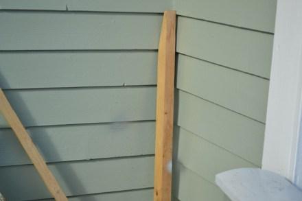 Spray oppe på verandaen..