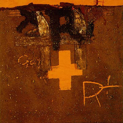 Antoni Tapies, Creu I R, 1975