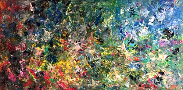 Turbulent Times Landscape - Abstract Expressionism by Estelle Asmodelle