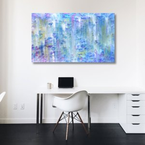 Subtle Azure - Abstract Expressionism