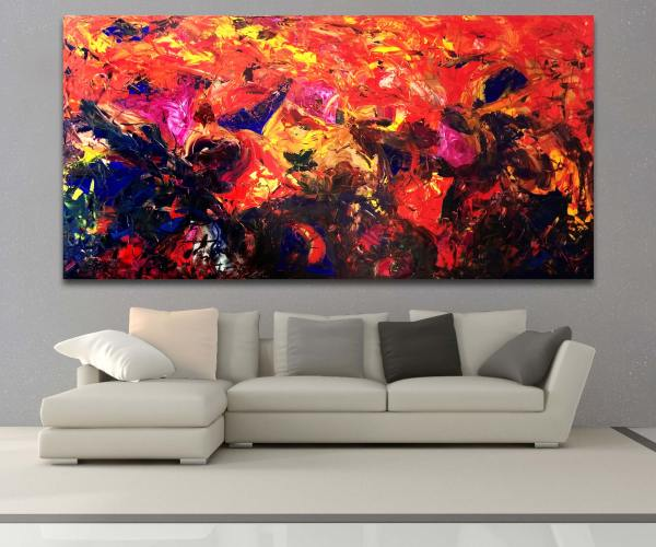Untitled 57 - Abstract Expressionism by Estelle Asmodelle