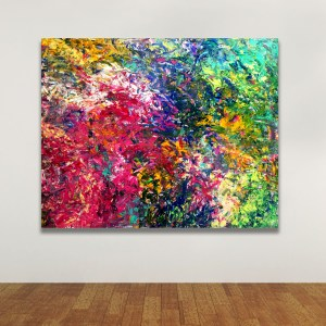 End of the Pandemic - Abstract Expressionism by Estelle Asmodelle