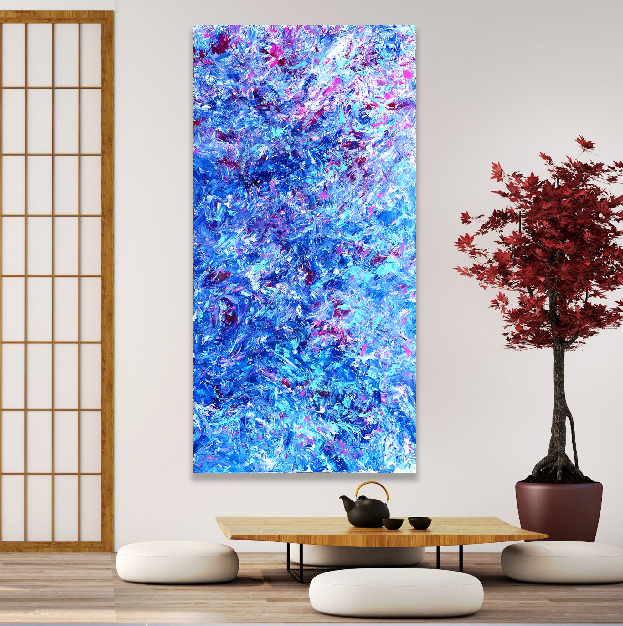 Secret Beauty - Abstract Expressionism by Estelle Asmodelle
