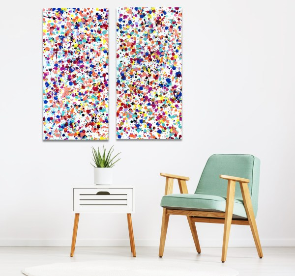 Twin Vision - Abstract Expressionism by Estelle Asmodelle