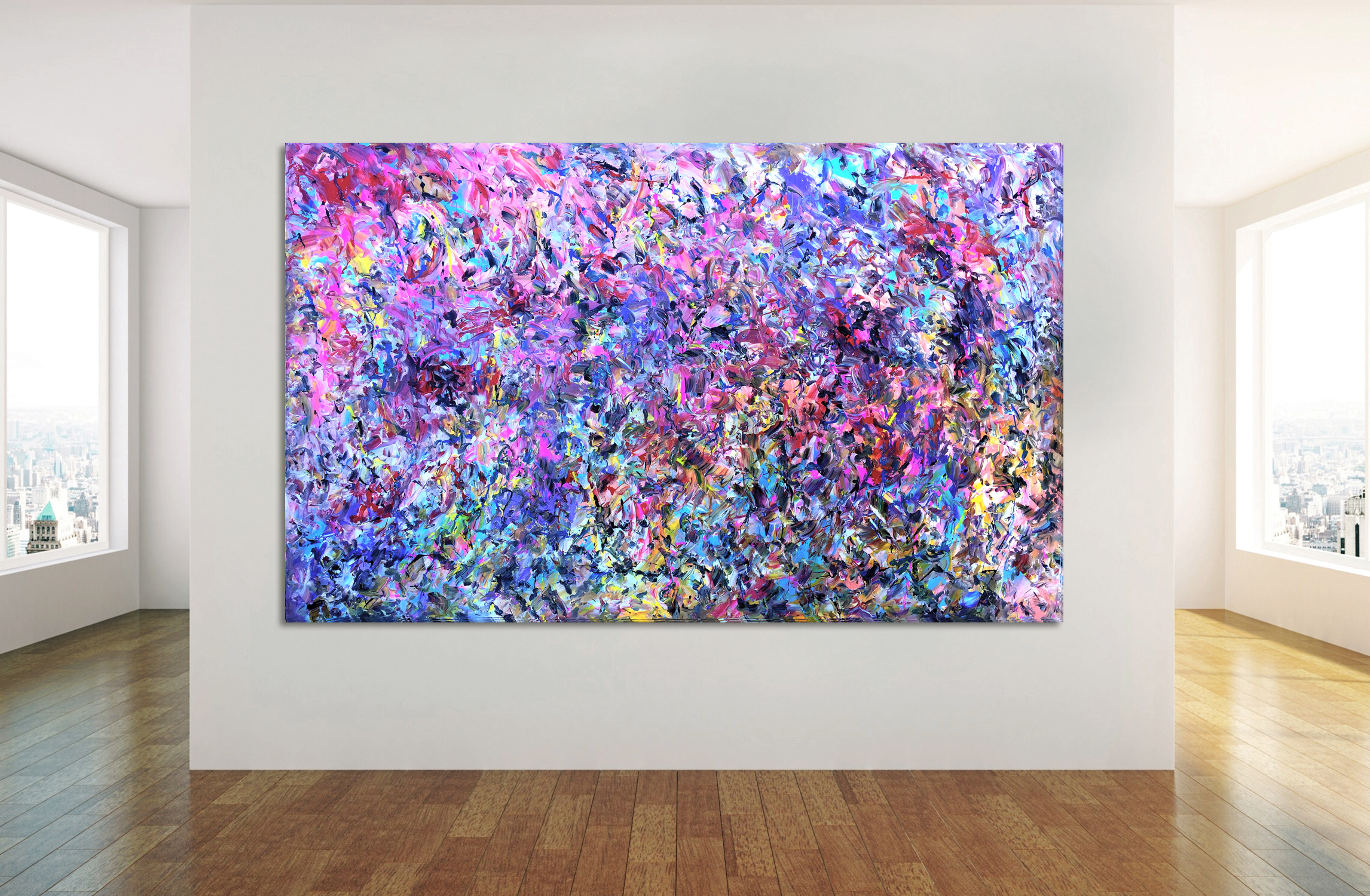 Number 76 - Abstract Expressionism by Estelle Asmodelle