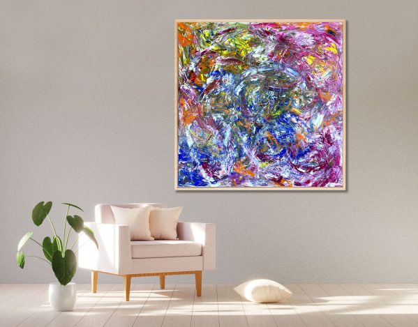 Redemption [FRAMED] - Abstract Expressionism by Estelle Asmodelle