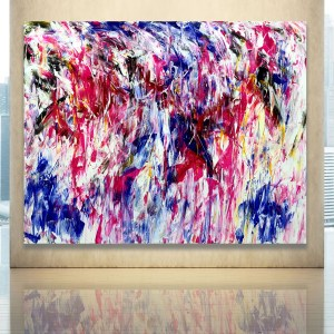Fleeting Embrace - Abstract Expressionism by Estelle Asmodelle