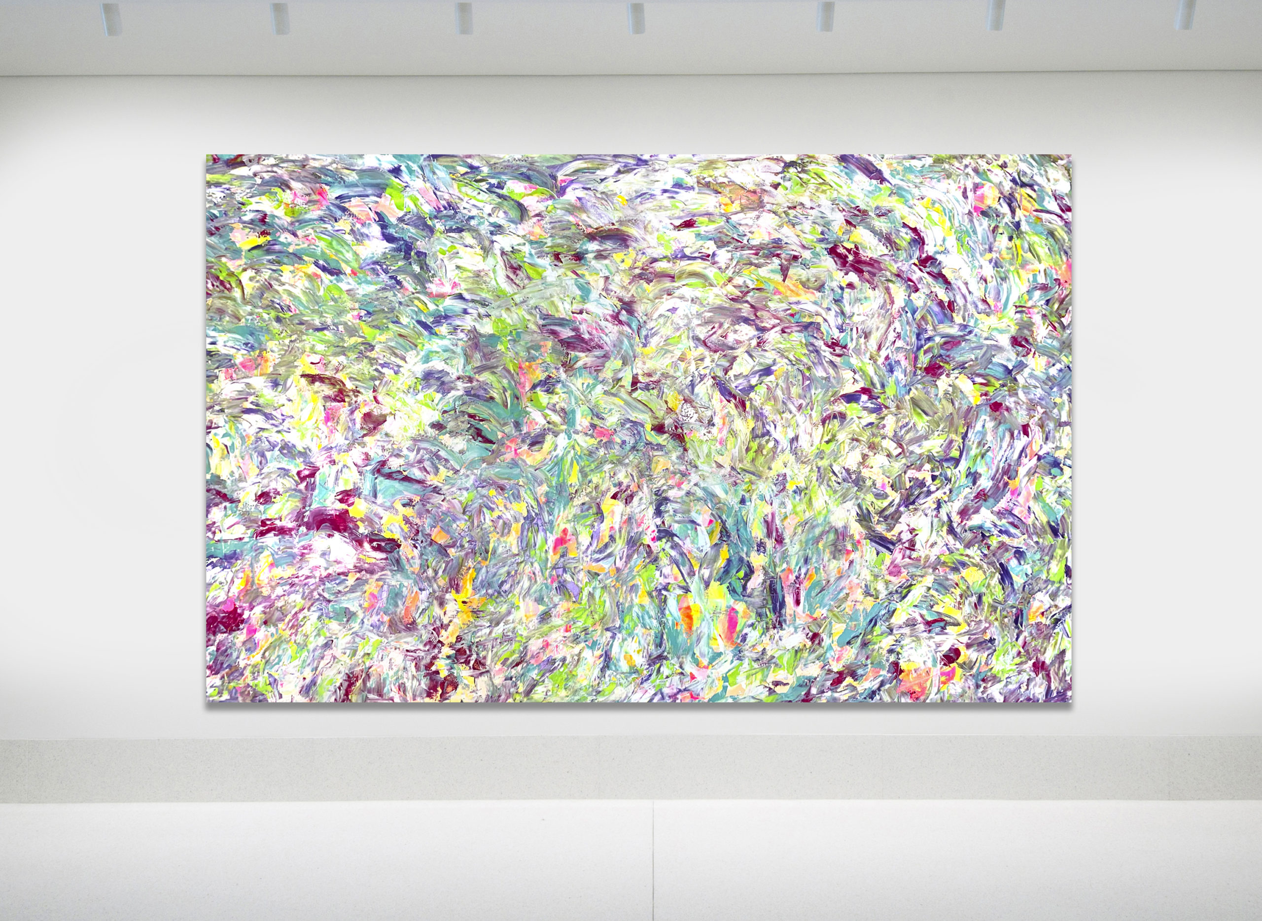 Move with you - Abstract Expressionism by Estelle Asmodelle
