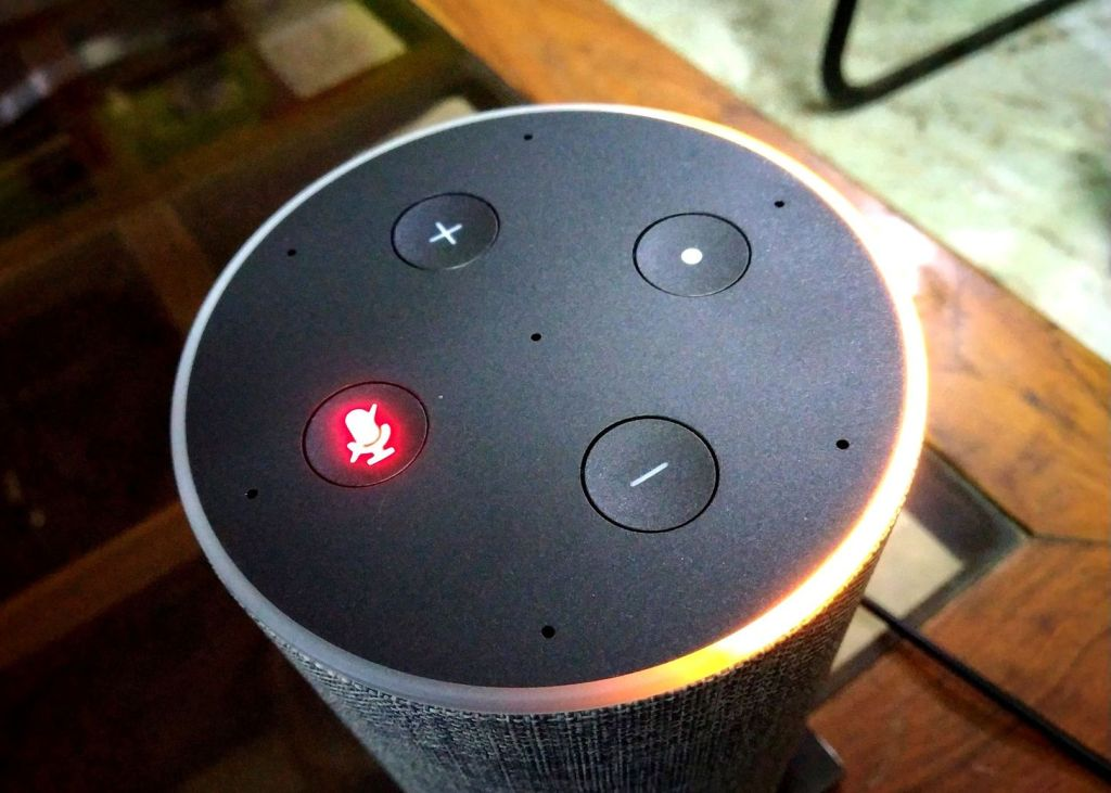 Amazon Echo Interface with Mic off Button Activated