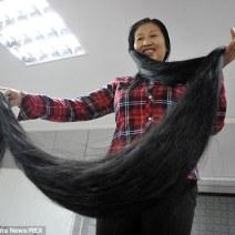 i capelli più lunghi del mondo - xie quiping 2
