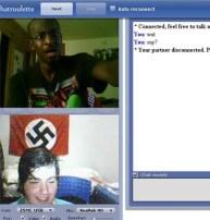 Afro vs Nazi - Chatroulette