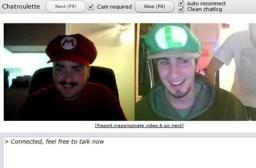 Mario vs Luigi - Chatroulette