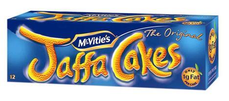 Una scatola di biscotti Jaffa