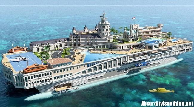Yacht di Monaco galleggiante