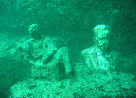 Museo subacque di Cape Tarkhankut. in Turchia