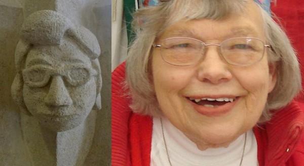 Il viso di una signora anziana diventa un gargoyle (2)